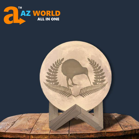 New Zealand Kiwi And Silver Fern Moon Lamp - Special Product
