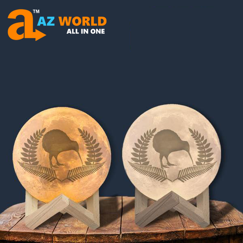 Image of New Zealand Kiwi And Silver Fern Moon Lamp - Special Product