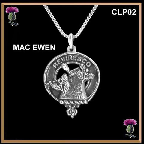 MacEwen Clan Crest Scottish Necklace - Y7