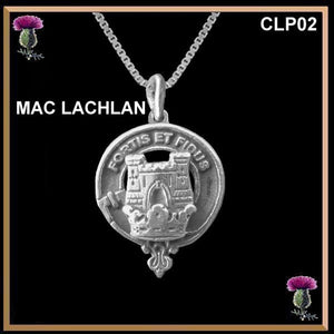 MacLachlan Clan Crest Scottish Necklace - Y7