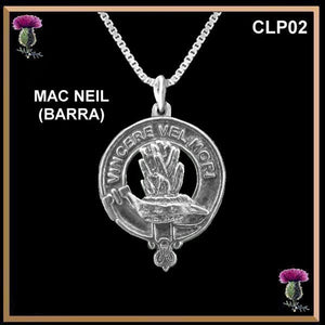 MacNeil Barra Clan Crest Scottish Necklace - Y7