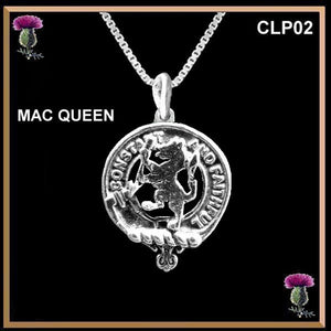 MacQueen Clan Crest Scottish Necklace - Y7