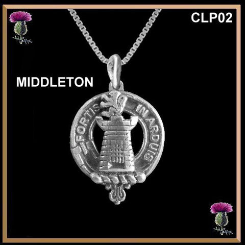 Middleton Clan Crest Scottish Necklace - Y7