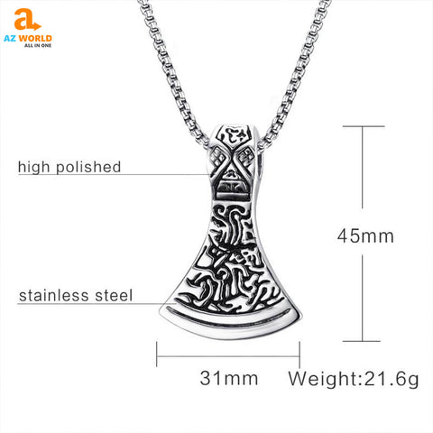 Image of viking, sweden, pendants, pendant necklace, norway, necklaces, necklace, Mjolnir Hammer Pendant Necklace, jewelry, Iceland, finland, denmark, Az World Store