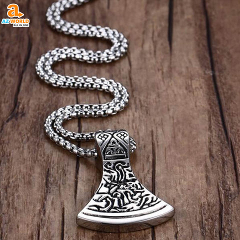 viking, sweden, pendants, pendant necklace, norway, necklaces, necklace, Mjolnir Hammer Pendant Necklace, jewelry, Iceland, finland, denmark, Az World Store