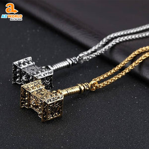 Mjolnir Hammer Pendant Necklace - M2