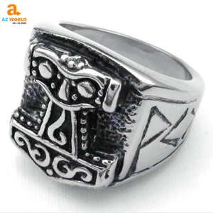 denmark, finland, sweden, norway, Iceland, vintage, viking, thor, stainless steel, rings, ring, jewelry, Az World Store