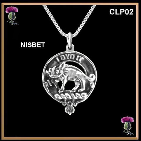 Nisbet Clan Crest Scottish Necklace - Y7