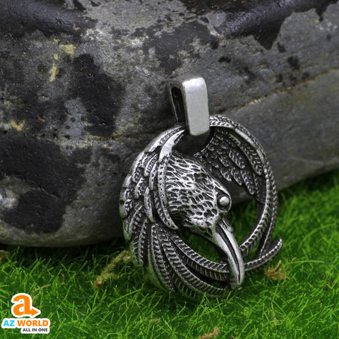 vikings, viking, sweden, pendant necklace, pendant, Odin Raven Necklace, odin, norway, necklaces, necklace, jewelry, Iceland, finland, denmark, Az World Store