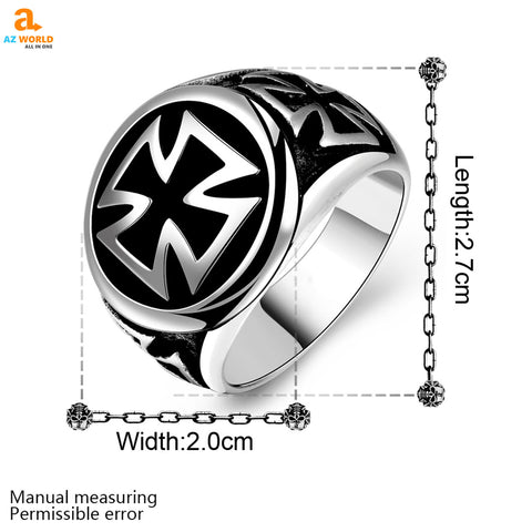 Image of Stainless Steel Celtic Cross Ring - M2