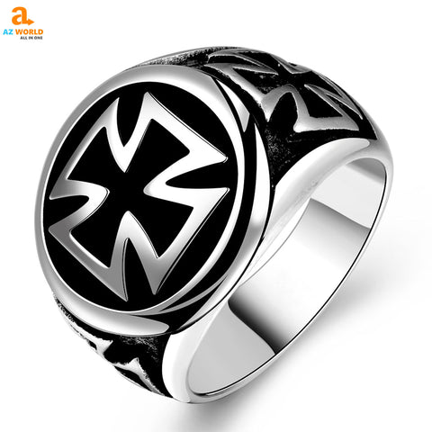 Stainless Steel Celtic Cross Ring stainless steel SCOTTISH SCOTLAND rings ring cross celtic Az World Store akito