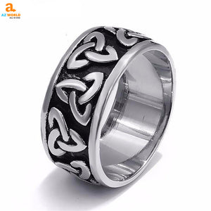 Stainless Steel Celtic Knot Ring 02 - M2