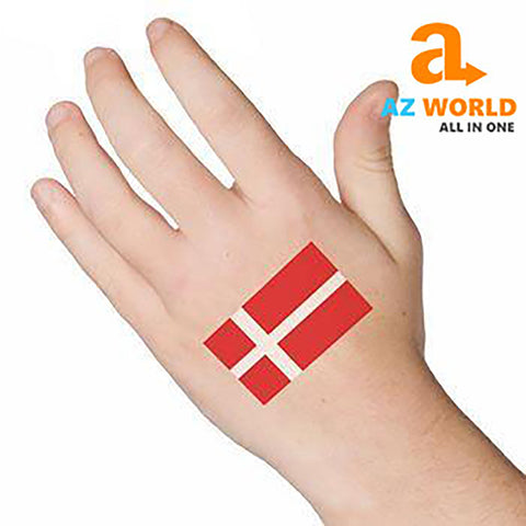Denmark Flag Face/Arm Sticker (10pcs/Set) - M2