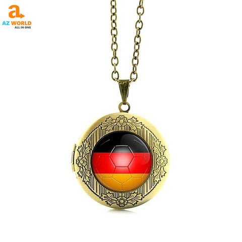 Image of world cup, world cup 2018, SOCCER, FOOTBALL, NECKLACE, NECKLACES, GERMAN, GERMANY, GERMANY FLAG
