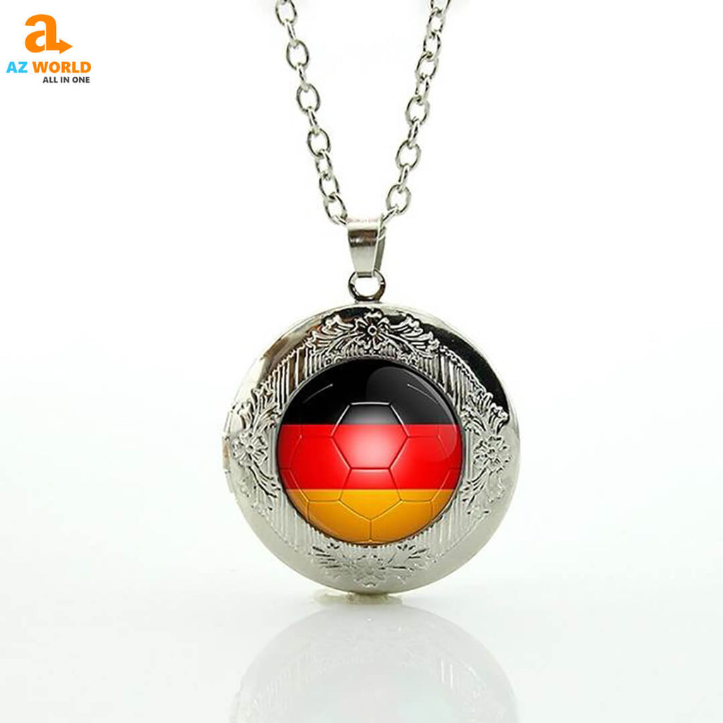 world cup, world cup 2018, SOCCER, FOOTBALL, NECKLACE, NECKLACES, GERMAN, GERMANY, GERMANY FLAG