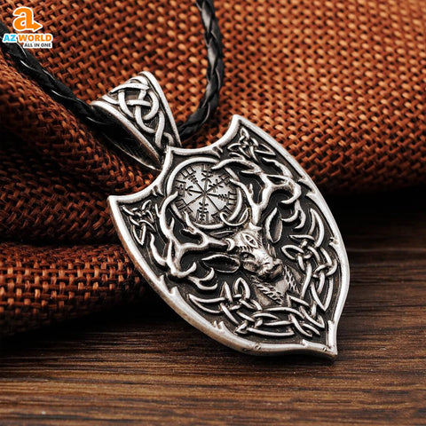 vikings, Viking Deer Amulet Pendant Necklace, viking, sweden, pendant necklace, pendant, norway, necklaces, necklace, Iceland, finland, denmark, deer, Az World Store, amulet