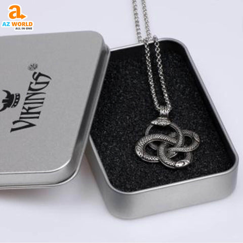 vikings, Viking Snake Pendant Necklace, viking, sweden, snake, pendant necklace, pendant, norway, necklaces, necklace, Iceland, finland, denmark, Az World Store