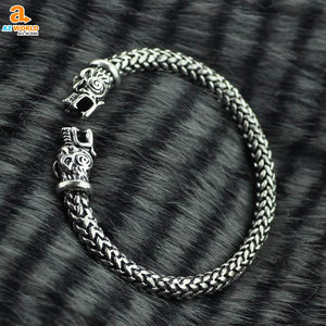 Vikings Wolf Head Bracelet - M2