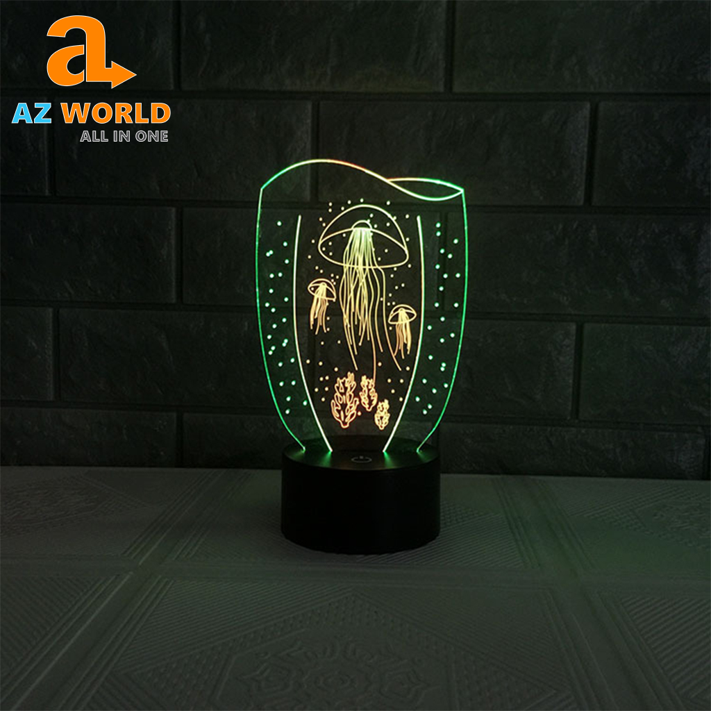 Aquarium Jellyfish LED Night Lamp - TK