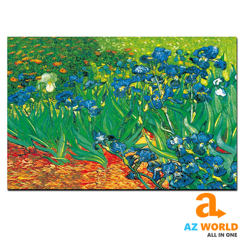Iris Flower Van Gogh Wall Canvas Art - TR