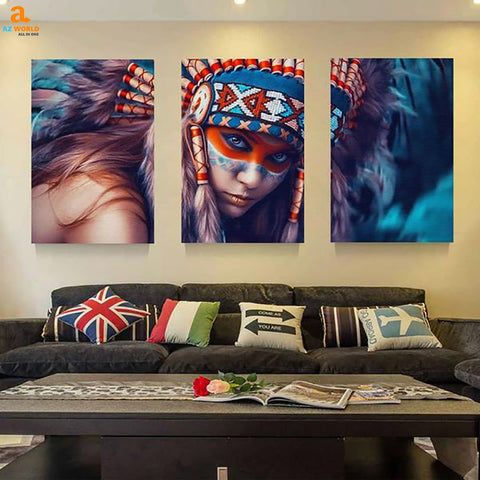 Native American Girl Canvas - N5