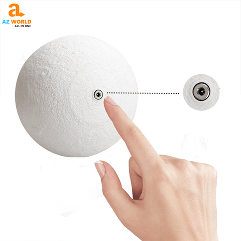 Image of moon lamp, usb charge, night lamp, lamp, moon, easy, home decor, bedroom