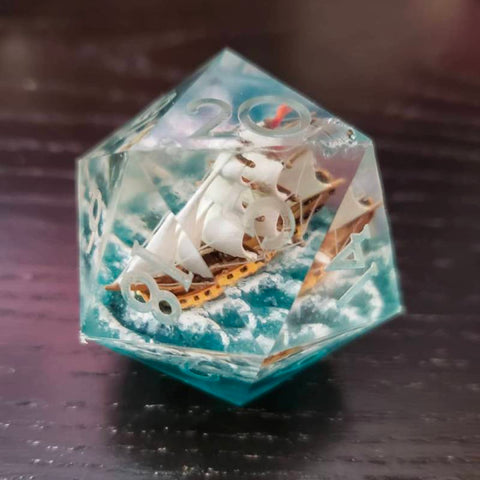 Image of Ship In A Bottle D20 Dice