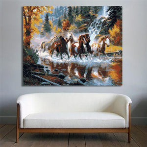 Horses Wall Painting For Home Decor - TU