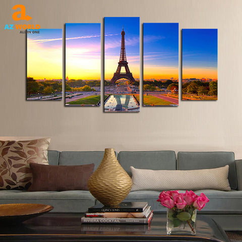 Eiffel Tower Landscape Painting - K