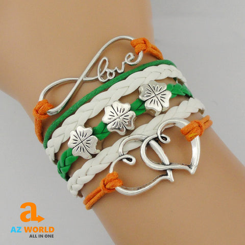 Image of CELTIC Infinity Love Irish Lucky Clover Bracelet - Y7