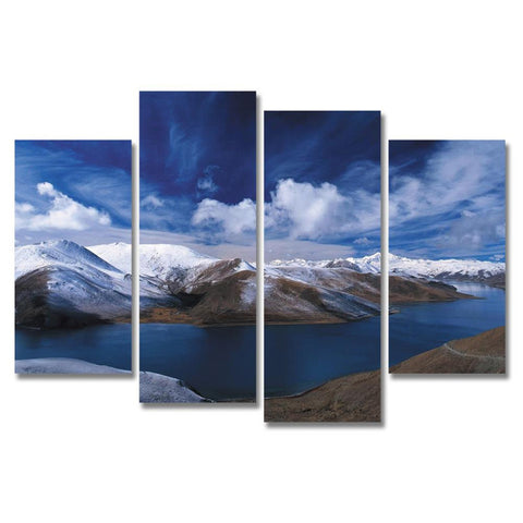 Snow Mountain Painting Canvas - TU