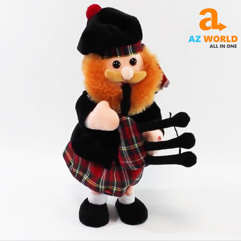 Image of dancing scotsman,bagpipes,tartan,scottish scotsman,scotland scotman ,play scotland the brave,scottish toy,scotland toy