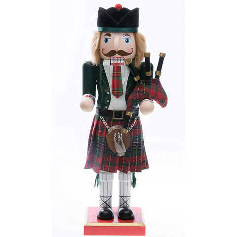 Traditional Scottish Tartan Wooden Nutcracker - Y7