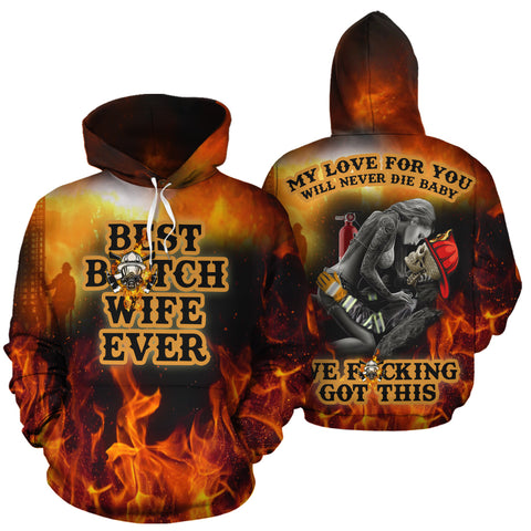 Image of Best Firefighter Couple Hoodies - Y7