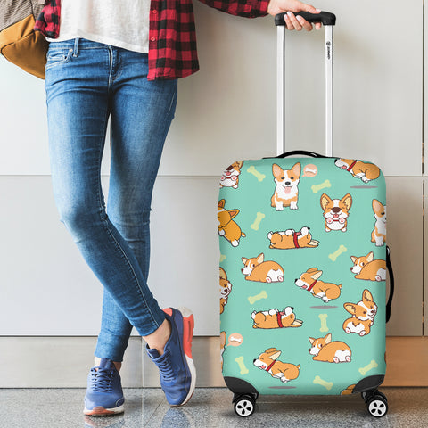 AZWorld Funny Corgi Luggage Covers