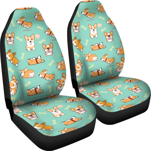 AZWorld Funny Corgi Car Seat Covers