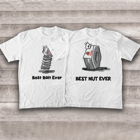 Funny Mechanic Couple T-shirts - Y7