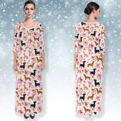 AZWorld-DachshundFlower™ Dresses - Special Limited Christmas Edition