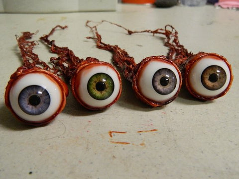 (Only available in USA) Halloween Prop - Realistic Human Ripped Out Eyeball - HANDMADE ITEM