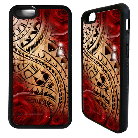 Image of Polynesian Samoa Tattoo Pattern Phone Case - Y7