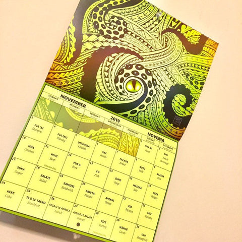 Image of Samoan Language & Art Calendar 2019
