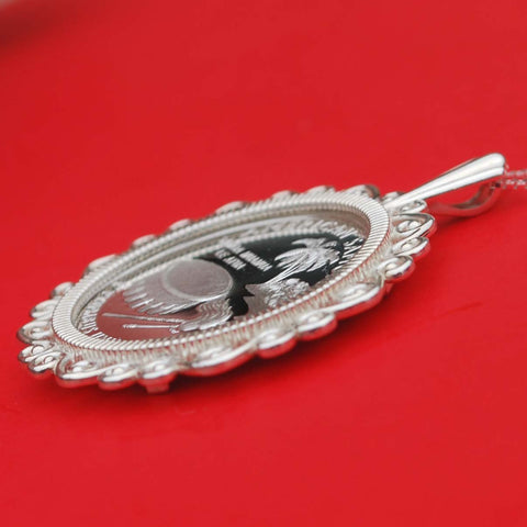 Image of American Samoa Silver Necklace - Y7