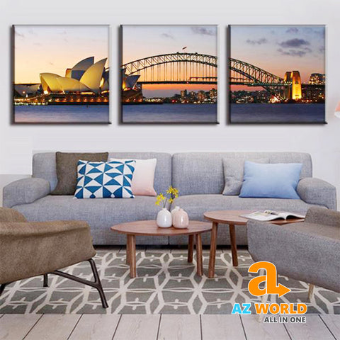 Sydney Sunset Canvas Wall Art - M