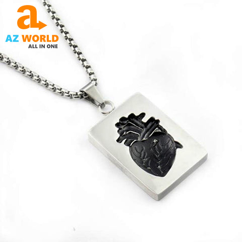 Image of Couple Anatomical Heart Necklace - M