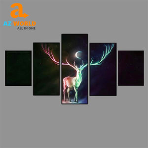 Moon Deer Canvas Wall Art - M