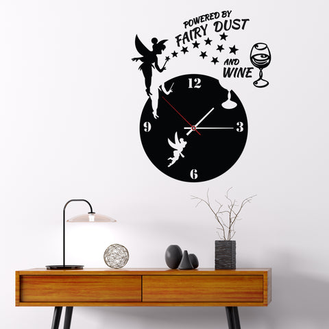 Image of Fairy Dust and Wine DIY Acrylic Wall Clock