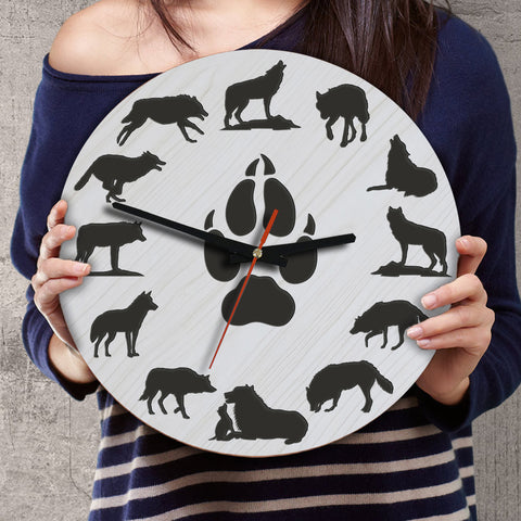 Wolf Wooden Wall Clocks