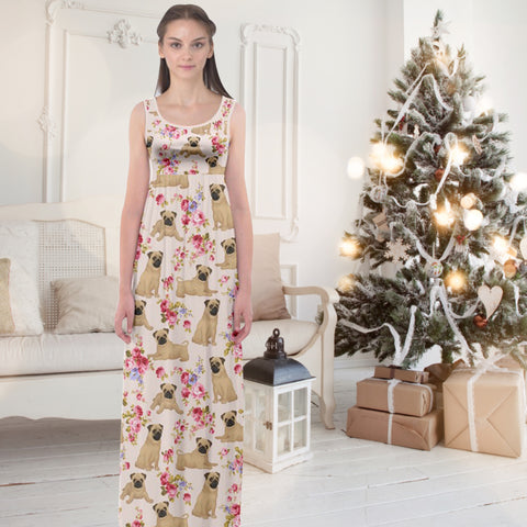 AZWorld-PugFlower™ Maxi Dresses - Special Limited Christmas Edition
