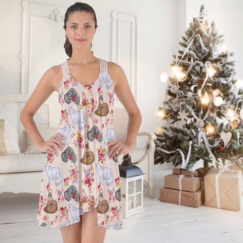 AZWorld-CatFlower™ Knee Length Dresses- Special Limited Christmas Edition