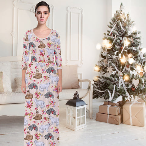 AZWorld-CatFlower™ Maxi Dresses - Special Limited Christmas Edition